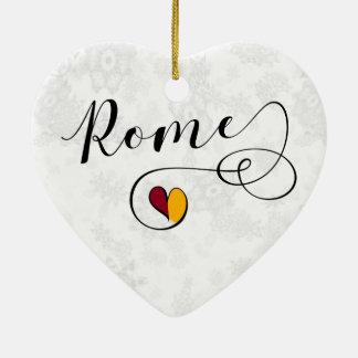 Rome Heart, Christmas Tree Ornament, Italy Christmas Ornament