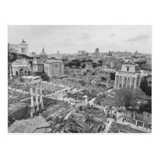Rome Imperial Forum Postcard B&W