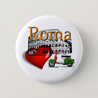 Rome in my Heart 6 Cm Round Badge