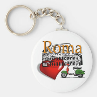 Rome in my Heart Basic Round Button Key Ring