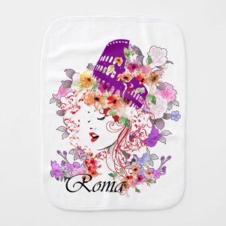 Rome in Woman Burp Cloth