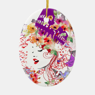 Rome in Woman Christmas Ornament