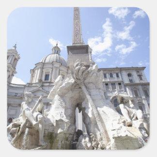 Rome, Italy 7 Square Sticker
