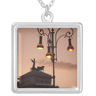 Rome, Italy 9 Silver Plated Necklace