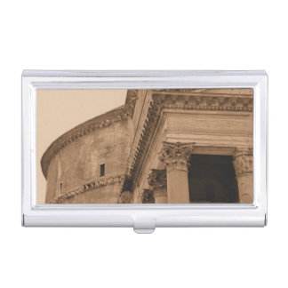Rome Italy Ancient Roman Pantheon Architecture Business Card Holder