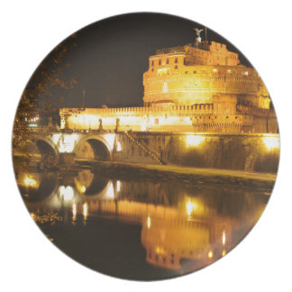 Rome, Italy at night Plate