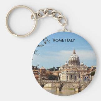 ROME ITALY BASIC ROUND BUTTON KEY RING