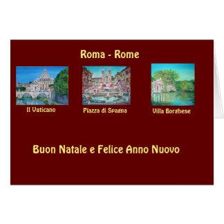 Rome, Italy - Christmas Card