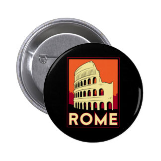 rome italy coliseum europe vintage retro travel 6 cm round badge