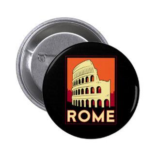 rome italy coliseum europe vintage retro travel 6 cm round badge