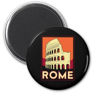 rome italy coliseum europe vintage retro travel 6 cm round magnet