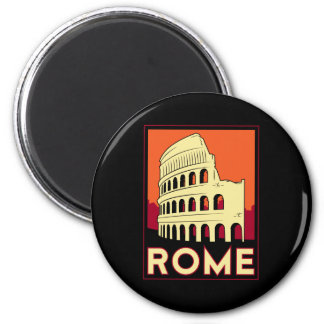 rome italy coliseum europe vintage retro travel magnet