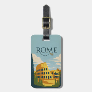 Rome, Italy Colosseum Luggage Tag