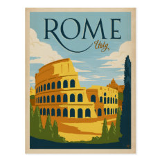 Rome, Italy Colosseum Postcard at Zazzle