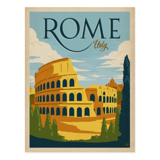 Rome, Italy Colosseum Postcard