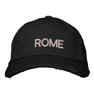 ROME ITALY EMBROIDERED HAT