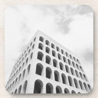 Rome Italy, EUR Palazzo del Lavoro Coaster