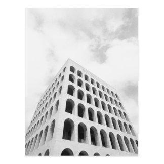 Rome Italy, EUR Palazzo del Lavoro Postcard