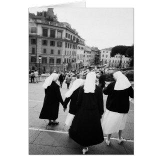 Rome Italy, Nun Patrol! (NR) Greeting Card