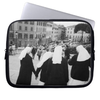 Rome Italy, Nun Patrol! (NR) Laptop Sleeve
