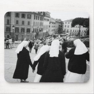 Rome Italy, Nun Patrol! (NR) Mouse Pad
