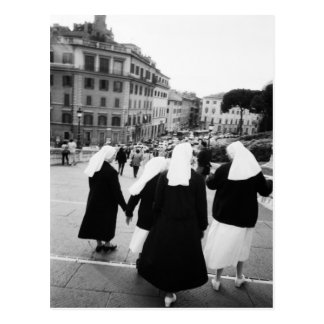 Rome Italy, Nun Patrol! (NR) Postcard
