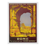 "Rome, Italy ""Rome Express"" Vintage Travel Print"