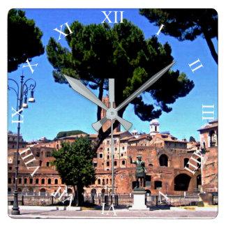 Rome Italy Square Wall Clock