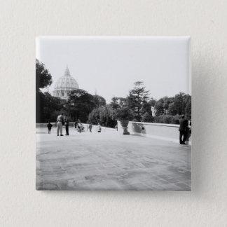 Rome Italy, The Vatican Gardens 15 Cm Square Badge