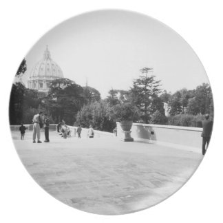 Rome Italy, The Vatican Gardens Plate