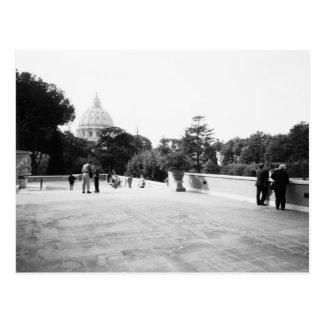 Rome Italy, The Vatican Gardens Postcard