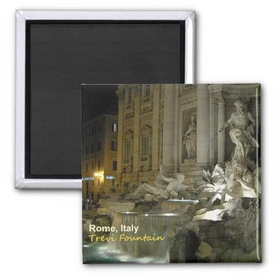 Rome Italy Trevi Fountain Travel Photo Magnet