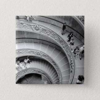 Rome Italy, Vatican Staircase 2 15 Cm Square Badge