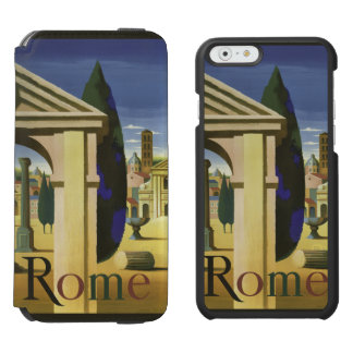 Rome Italy vintage travel custom cases Incipio Watson™ iPhone 6 Wallet Case