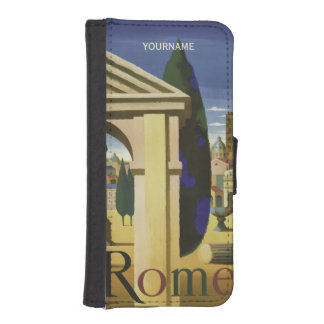 Rome Italy vintage travel custom phone wallets