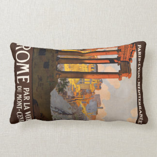 Rome Italy vintage travel pillow