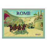 Rome ~ Italy ~ Vintage Travel Poster