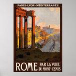 Rome Italy Vintage Travel Poster Ad Retro Prints