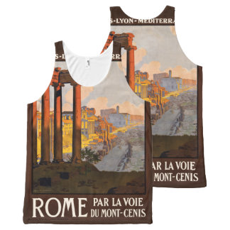 Rome Italy Vintage Travel Poster tank top All-Over Print Tank Top
