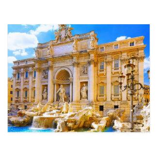 Rome Italy's Trevi Fountain Postcard
