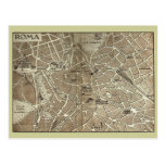 Rome, Map dating to the end of the 19th century Post Cards