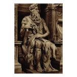 Rome, Michelangelo, Moses Poster