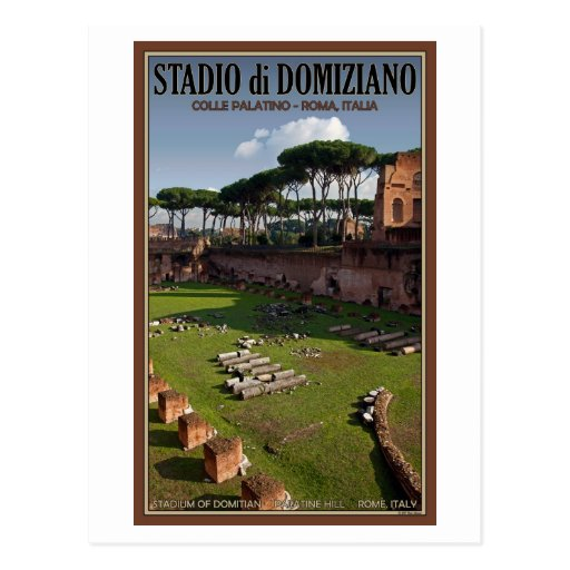Rome - Palace of Domitian - The Stadium Postcard