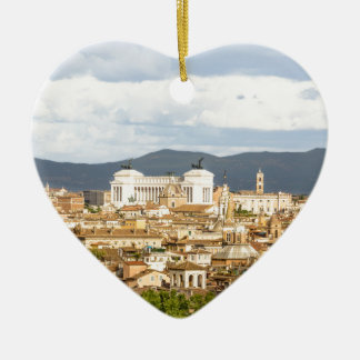 Rome panorma day in the summer christmas ornament