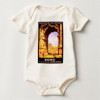 """Rome, par le train de luxe """"Rome Express"""" Baby Bodysuit"""