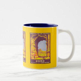Rome par le train deluxe Two-Tone mug