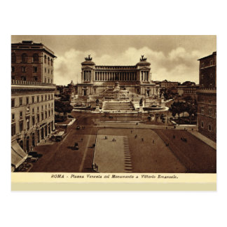 Rome, Piazza Venezia Postcard