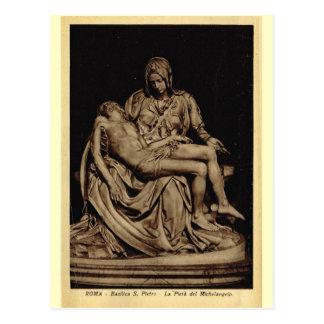 Rome, Pieta, by Michelangelo Postcard
