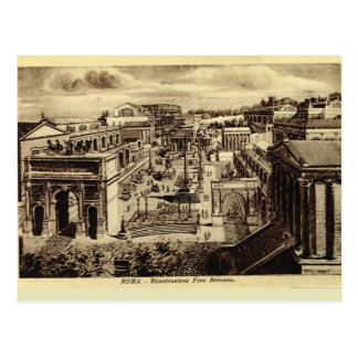 Rome, Roman Forum, artist's impression Postcard