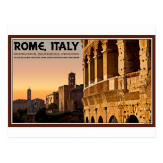 Rome - Roman Forum Sunset Postcard